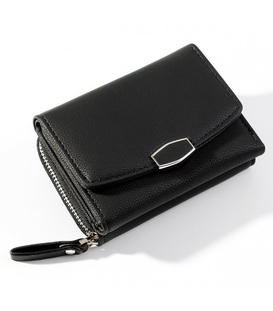 WW090 - Three-fold wallet zipper purse
