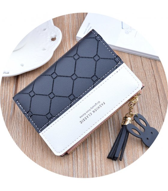 WW092 - Korean tassel zipper wallet