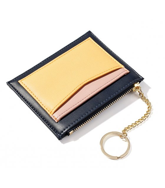 WW095 - Korean multi-card bit zipper Wallet