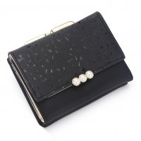 WW115 - Korean weave candy color tri-fold small Wallet