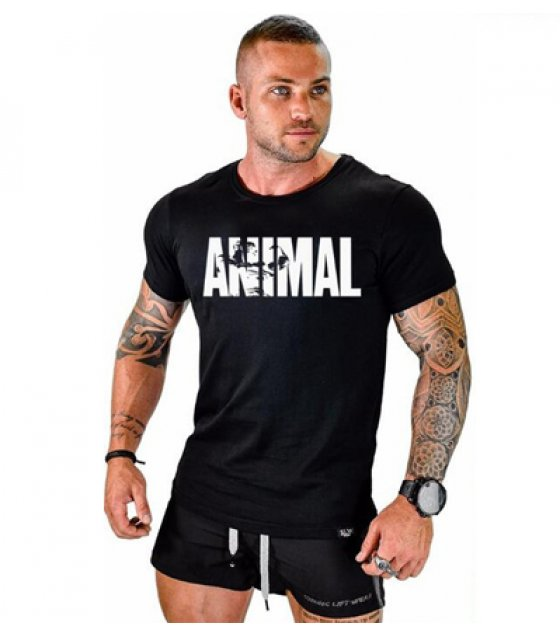 MR027- Animal black men T shirt