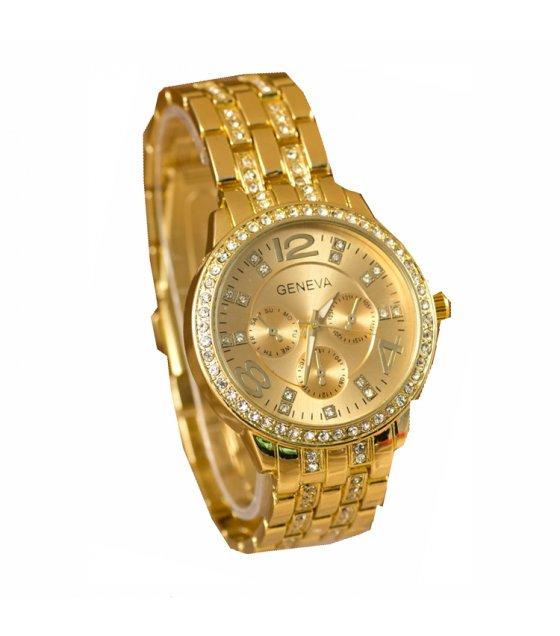 W010 - Golden Rhinestone Watch