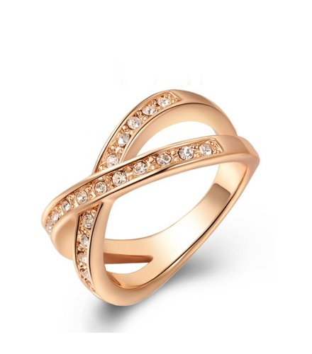 R066 - Double Layer Gold Ring