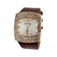 W086 - Brown Diamond Watch