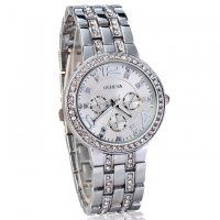 W118 - Silver Diamond Watch