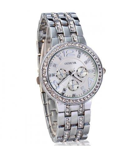 W118 - Silver Diamond Watch