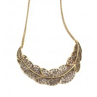 N790 - Vintage Leaf Necklace