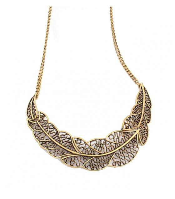 N790 - Vintage Leaf Necklace