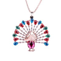 N809 - Colorful Peacock Necklace