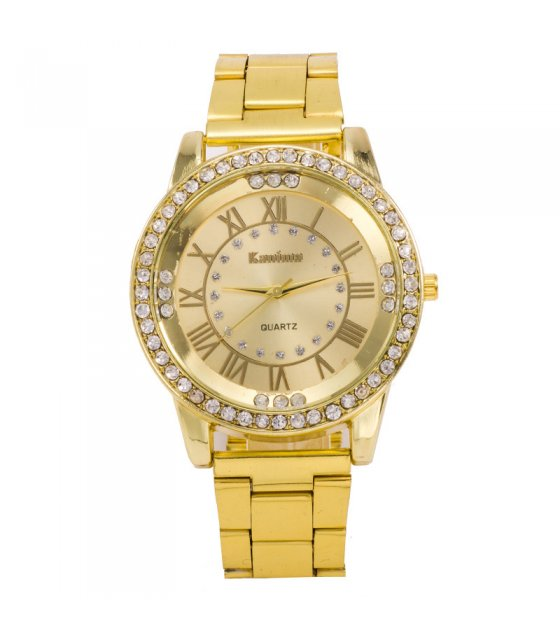 W191 - Roman Number Dial Gold Watch