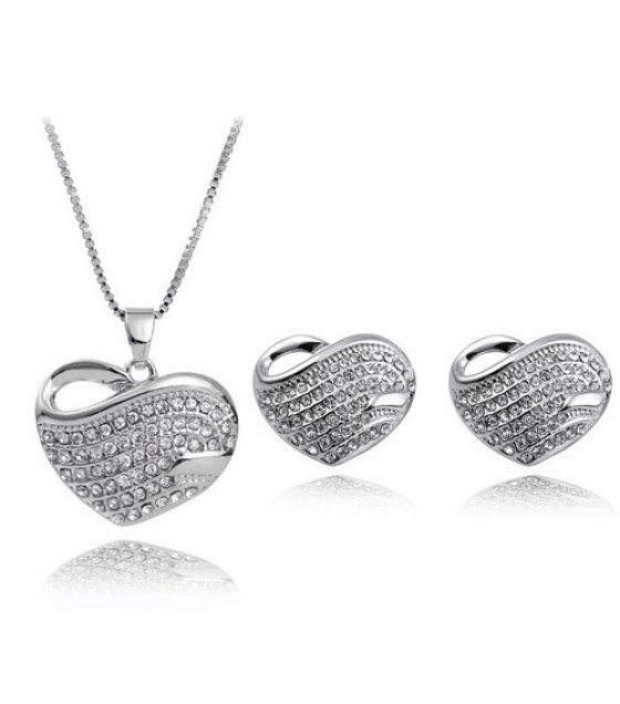 SET012 - Silver Heart Necklace