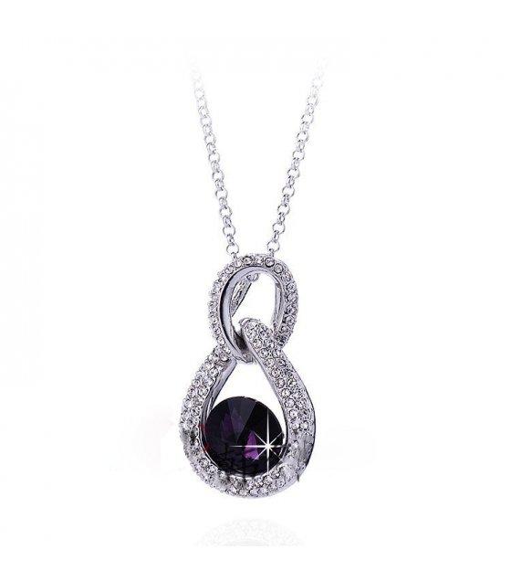 N343 - Wild Purple Droplet Necklace