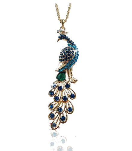 N183 - Exquisite Diamond Peacock Necklace