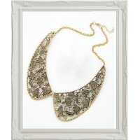 N441- Golden Collar Necklace