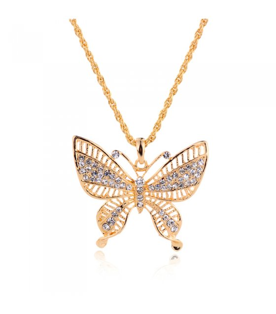 N182 - Exquisite diamond butterfly necklace