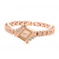 W009 - Rose Gold Luxury Diamond Watch