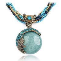 N623 - Bohemian Peacock Necklace